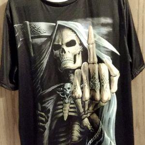NEW Mens XL skull graphic short sleeve tee